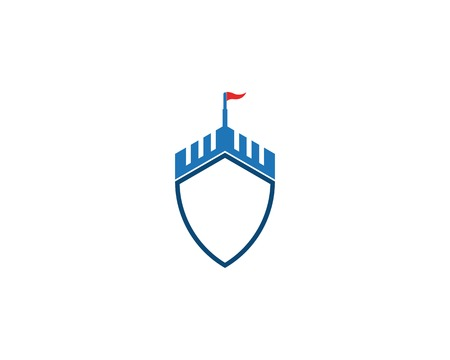 Castle shield icon vector illustration