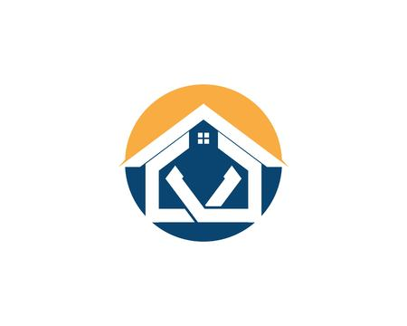 Property and construction logo vector Illusztráció