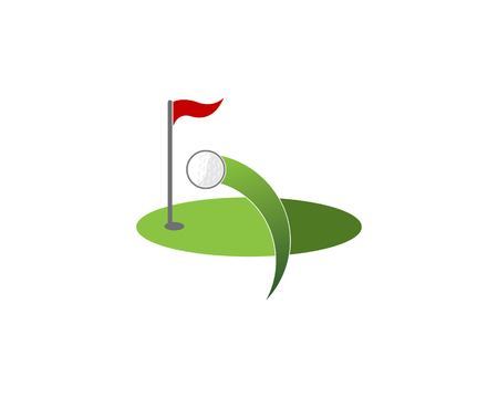 Golf field icon logo vector