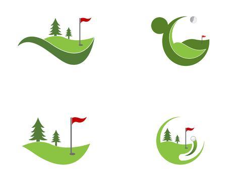 Vecteur de logo icône terrain de golf