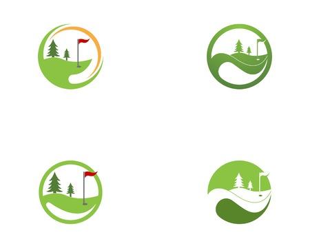 Golf field icon logo vector