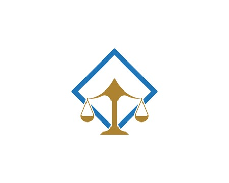Law firm justice icon logo design vector