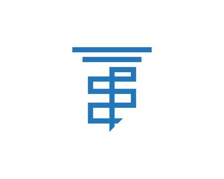 Pillar icon logo design vector template