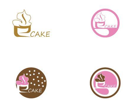 Cake icon logo design verctor Иллюстрация
