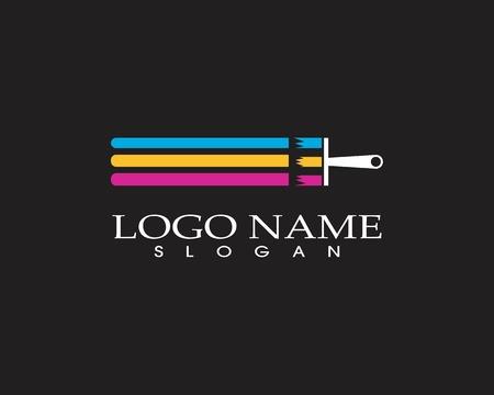 Vector de logotipo de empresa de icono de pintura