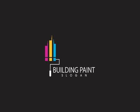 Gebäudefarbe Logo-Design-Vektor