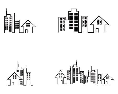 Plantilla de vector de logotipo de construcción de edificios Logos
