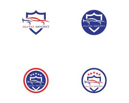 Vettore di design del logo auto auto