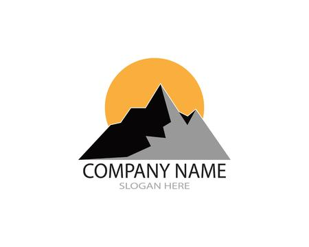 Mountain abstract logo design vector illustration Ilustrace