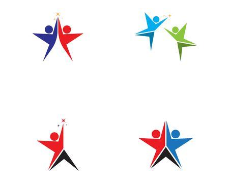 Human character logo vector illustration Stock Illustratie