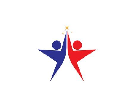 Human character logo vector illustration Ilustração