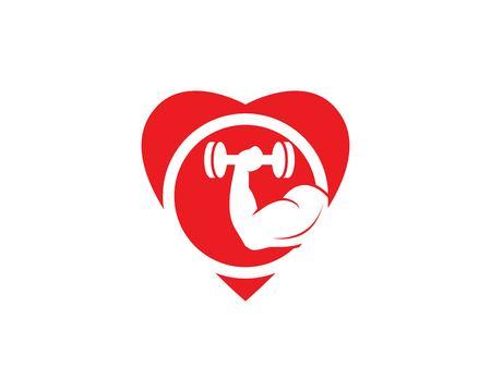 Gym,fitness icon logo vector illustration