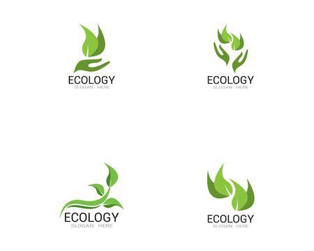 Ecology nature leaf logo vector Ilustracja