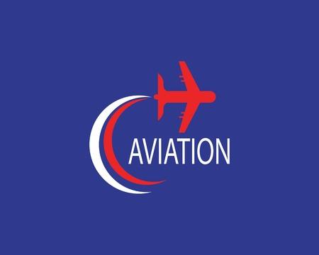 Luftfahrtflugzeugikonenillustrationslogovektor
