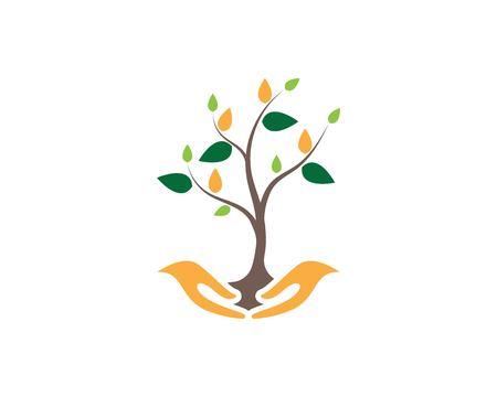 Abstract trees logo design vector illustration
