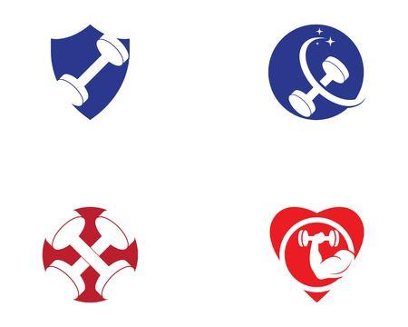 Gym fitness sport logo vector illustration