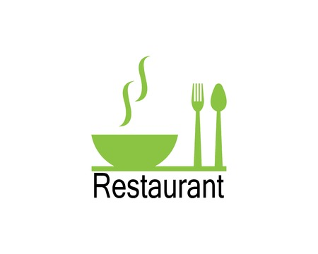 Restaurant icon logo vector illustration 矢量图像