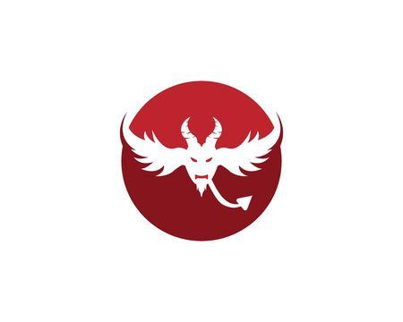 Devil vector icon design illustration logo template