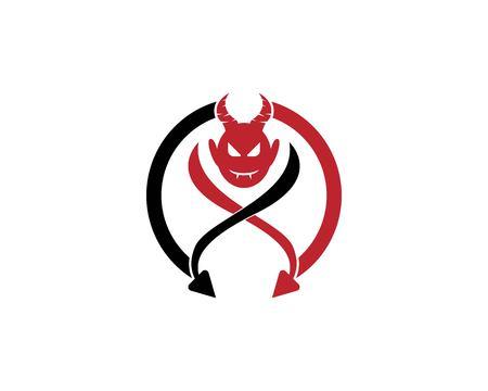 Devil vector icon design illustration logo template Иллюстрация