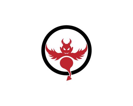 Devil vector icon design illustration logo template Иллюстрация