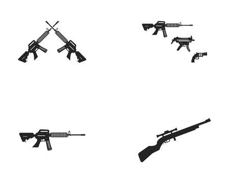 Gun army logo vector template