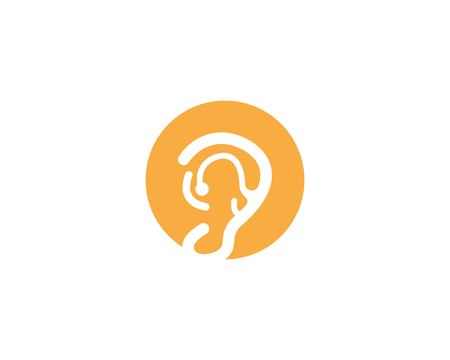 ear logo and symbols vector app icons 向量圖像