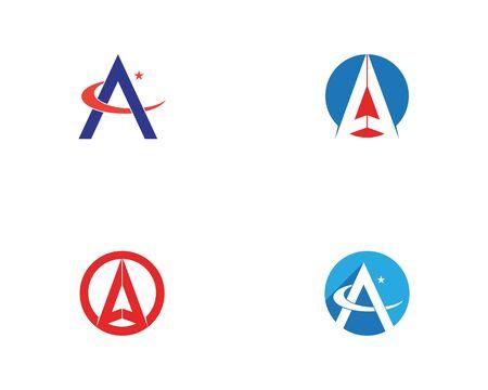 A Letter Template vector icon illustration design Illustration