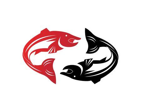 pesce vettore sagoma modello salmone