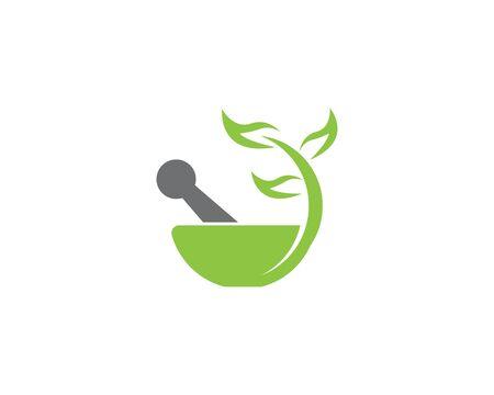 Herbal pharmacy health medical vector logo Illustration