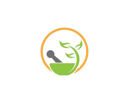 Herbal pharmacy health medical vector logo Illustration
