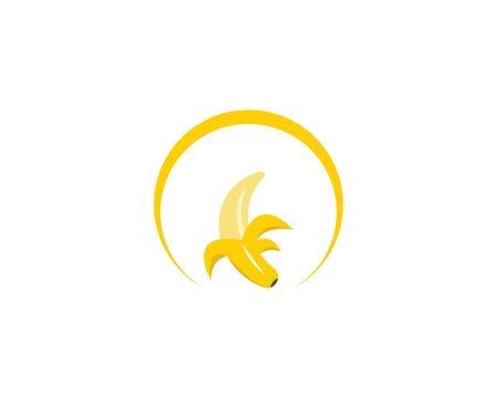 Bananan fruits icon logo vector template