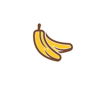 Bananan fruits icon logo vector template