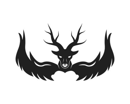 Deer Logo Template vector icon illustration design Illustration