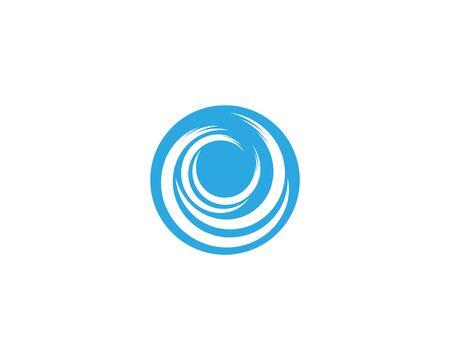 Wasserwellenikonen-Vektorillustrationsdesignlogo Logo