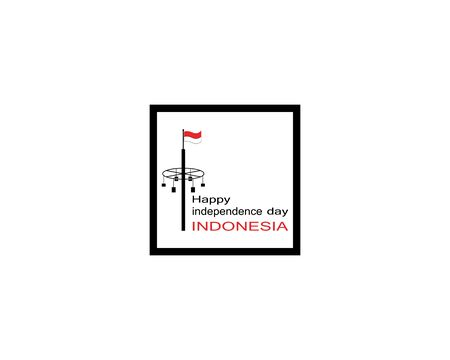 Happy independence day indonesia logo vector template