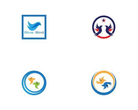 Bird logo vector. Flying Bird Logo design vector template. Dove Pigeon Logotype concept icon