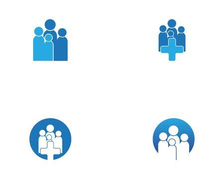 Health Medical Logo template vector illustration design Illustration