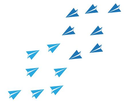 Paper plane icon vector illustration design Logo Template