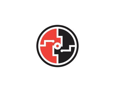 Circuit Logo Template vector illustration icon design
