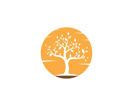 Tree icon logo vector concept of a stylized