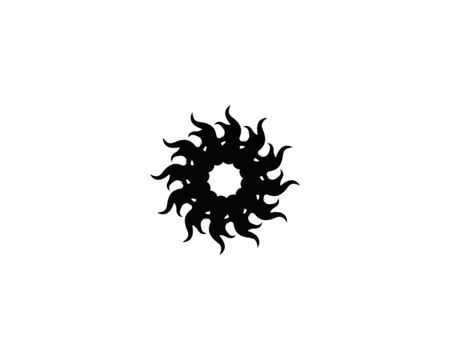 Black tribal tattoo icon and symbol template