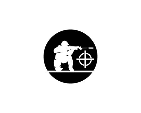 Gun army military icon and symbol vector illustration