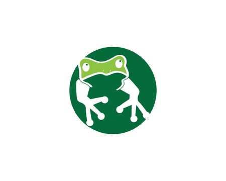 Frog cartoon icon silhouette vector illustration