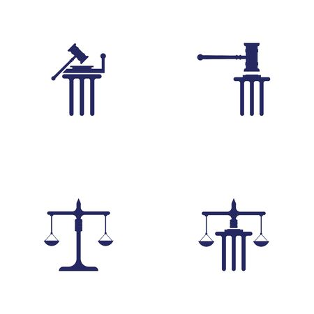 justice law Template vector illsutration design