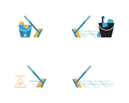 Cleaning service icon and symbol vector illustration Фото со стока - 130085443