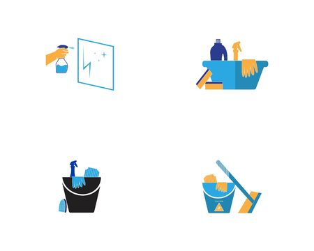 Cleaning service icon and symbol vector illustration Фото со стока - 130085476