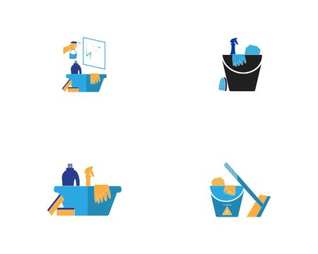 Cleaning service icon and symbol vector illustration Фото со стока - 130085485