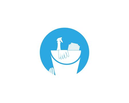 Cleaning service icon and symbol vector illustration Фото со стока - 130085488
