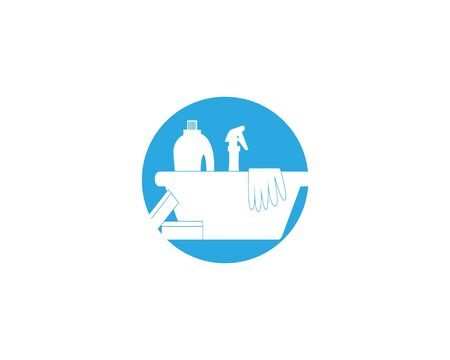 Cleaning service icon and symbol vector illustration Фото со стока - 130085502