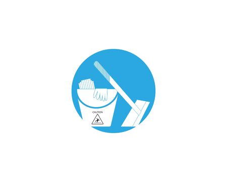 Cleaning service icon and symbol vector illustration Иллюстрация